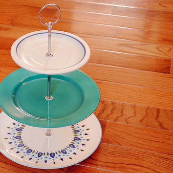 Vintage 3 Tier Cake Stand and Cupcake Stand