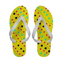 Dots - Yellow Flip flops from Zazzle.com