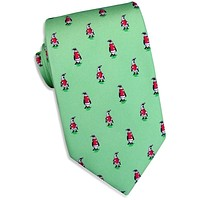 North Pole Parade Tie in Mint by Bird Dog Bay