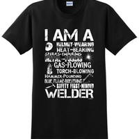 I Am A Welder, Badass Welding Gift T-Shirt Short Sleeves Cotton T Shirt Free Shipping TOP TEE Tricolor Top Tee Plus Size