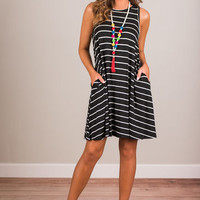 You And Me Forever Dress, Black-Ivory
