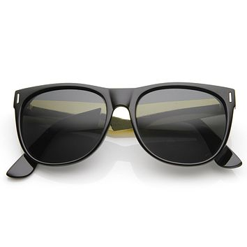 Trendy Indie Hipster Super Retro Metal Arm Horned Rim Sunglasses 8687