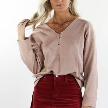 Feels Like Home V-Neck Sweater