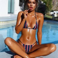 Swimsuit New Arrival Beach Hot Sexy Summer Tankini Stripes Bikini [11813549519]