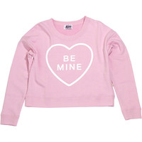 BE MINE crew neck