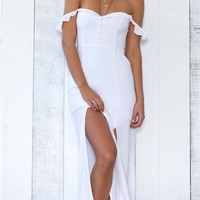 Salty maxi dress- white