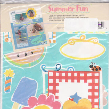 Summer Fun Scrapbooking Kit by Hallmark with stickers, themed paper, die cuts, frames and borders + page ideas UNOPENED