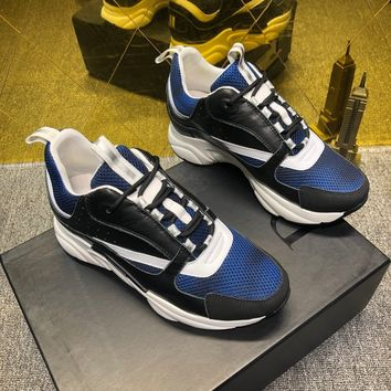 Christian Dior Chiara ferragni Men's 2020 New Fashion Embroidery Monogram Breathable Canvas Low Top Boots Casual Sneaker Dior Running sport Shoes flats BEST quality