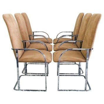 Pre-owned Milo Baughman DIA Chrome Dining Chairs - Set of 4