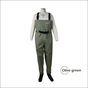 Breathable fishing waders for men, stocking foot chest waders, pesca waders