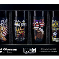 Lynyrd Skynyrd Shot Glasses Set (4 Pack)
