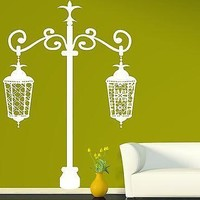 Wall Sticker Vinyl Decal Luxurious Two Beautiful Carved Ceiling Lights Unique Gift (n220)