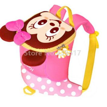 Toddler Backpack class Cute 3D Mickey Minnie Kids Toddler Anti-lost Backpack With Safety Harness Leash Bags for Children Kindergarten School Small Bag AT_50_3