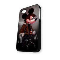 Walt Disney Marvel Mickey Mouse Wolverine iPhone 4/4S Case