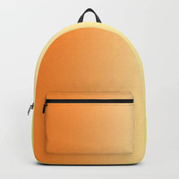 Backpack - Orange to Yellow Ombre - Book Bag - School Book Bag - Student Bag - Made to Order