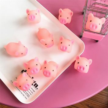 4Pcs Cartoon Cute Interesting Pigs Gifts for Children Happy Birthday Baby Shower Home&party Decorations Small Gifts for Kids.Q