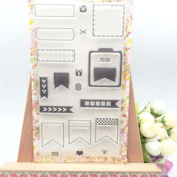 New arrival about label frame design scrapbooking clear stamps christmas gift for DIY paper card kids photo album LL-033