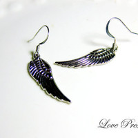 Back to Home - Angel Feather Wing Earrings - Choose your color