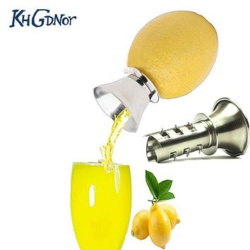 Gadgets Lemon Manually Squeezer Lemon Juicer Pourer Screw Limes Oranges Drizzle Fresh Citrus Juice Stainless Steel Fruit Tools