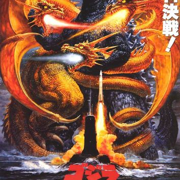 Godzilla vs. King Ghidora Movie Poster 24x36