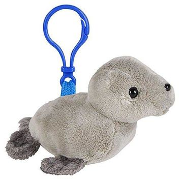 Wildlife Tree Harbor Seal Plush 3.5 Inch Stuffed Animal Backpack Clip Toy Keychain Wildlife Hanger Party Favor Pack of 12