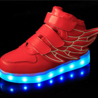 Red Wings LED Kids Shoes