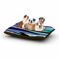 "Nika Martinez ""Beach Waves"" Teal Abstract Dog Bed"