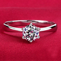 Sterling Silver Diamond Wedding Ring