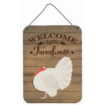 White Holland Turkey Welcome Wall or Door Hanging Prints CK6927DS1216