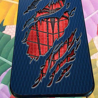Peter Parker Ripped Torn cloth for iPhone 4/4s, iPhone 5/5S/5C/6, Samsung S3/S4/S5 Unique Case *76*