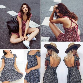 ac PEAPON Women's Fashion Summer Sexy Slim Floral One Piece Dress [10363163212]