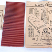Pretty Pleat Mini Pleater by d. Anne Ruff,Pleat Making Tool, Pleater,Rubber Pleating Device, Ruffles Maker, Sewing Tools, Sewing Accessory