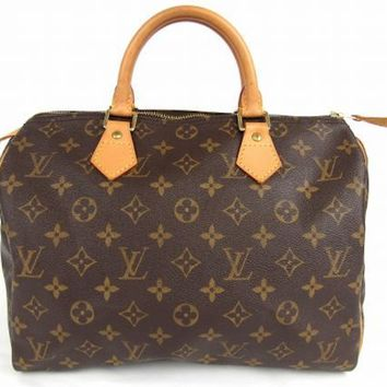 LOUIS VUITTON Monogram Speedy 30 Hand Bag M41526 Auth F/S JAPAN