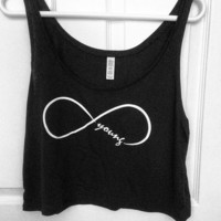 Forever Young Cropped Tank