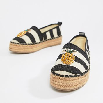 ASOS DESIGN Jumble pineapple espadrilles at asos.com
