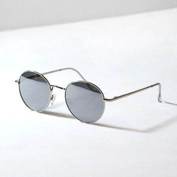 Lottie Round Mirrored Sunglasses