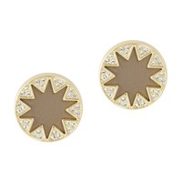 Sunburst Earrings with Pave