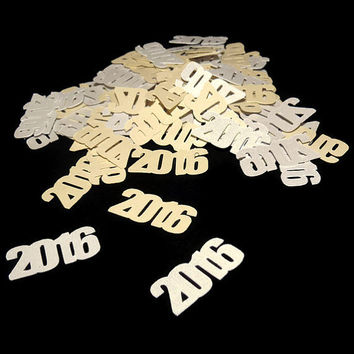 2016 confetti, New Years Eve decorations, wedding, silver, gold, baby shower, anniversary party, birthday, year