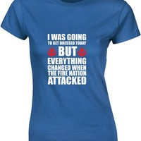 The Fire Nation Attacked, Ladies Printed T-Shirt