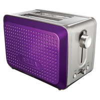 Bella Dots 2 Slice Toaster - Purple