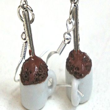 Mug Cake Dangle Earrings
