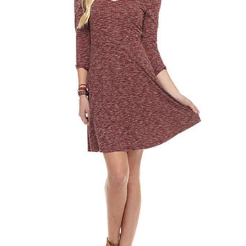 Almost Famous X Front Rib Skater Dress