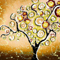 Art Print Tree of Life Vintage Style Giclee 8x10 Signed