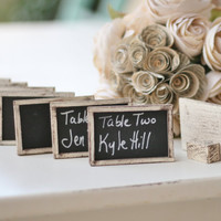 SET of 150 Chalkboard Name Cards Escort Cards by braggingbags