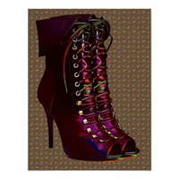 Shoe Lace Boots Flowers Fashion Art Poster