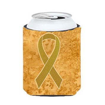 Gold Ribbon for Childhood Cancers Awareness Can or Bottle Hugger AN1209CC