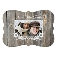 Barn Wood Save The Date Announcement