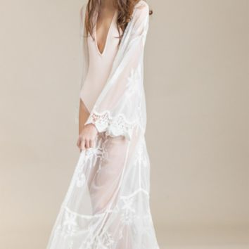 Lace Robe Kimono Swimsuit Cover Up