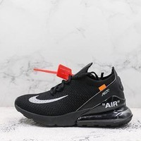 Nike Air Max 270 X Off-white Flyknit Black
