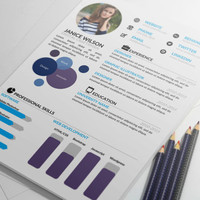 MS Word Professional Resume Template with Portfolio